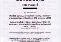 EPS - osvědčení LITES MHU-109/110/111
